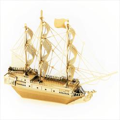 3D Lazer Kesim Metal Model Black Pearl Gold - Thumbnail