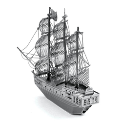 3D Lazer Kesim Metal Model Black Pearl Silver - Thumbnail