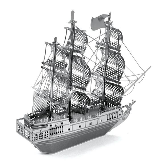 3D Lazer Kesim Metal Model Black Pearl Silver
