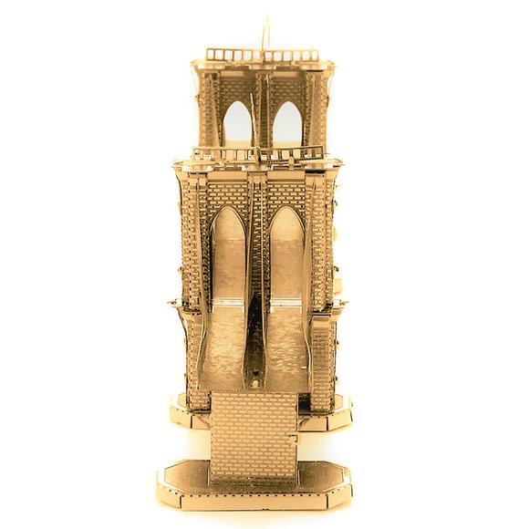 3D Lazer Kesim Metal Model Brooklyn Köprüsü Gold
