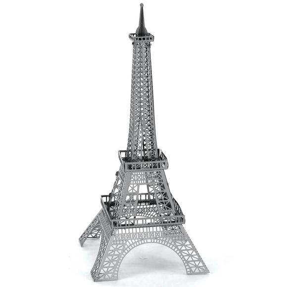3D Lazer Kesim Metal Model Eyfel Kulesi Silver
