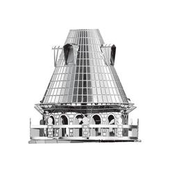 3D Lazer Kesim Metal Model Galata Kulesi Silver - Thumbnail