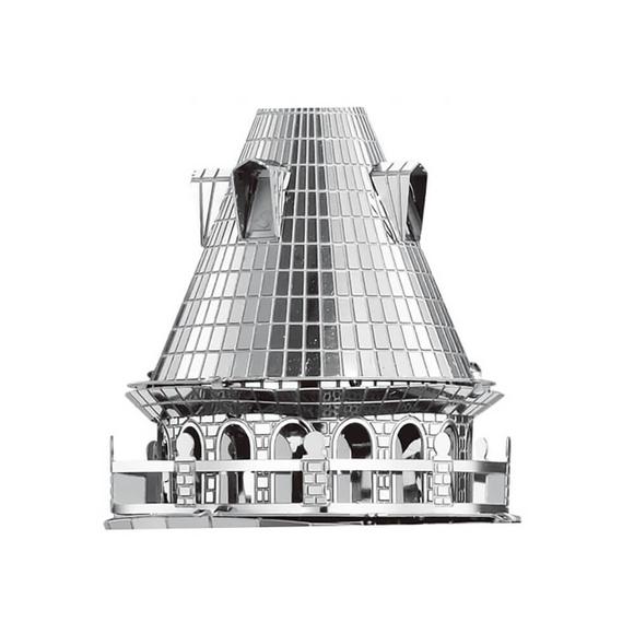 3D Lazer Kesim Metal Model Galata Kulesi Silver