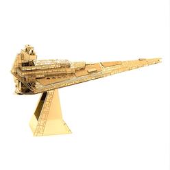 3D Lazer Kesim Metal Model Imperial Star Destroyer Gold - Thumbnail
