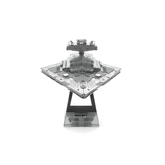 3D Lazer Kesim Metal Model Imperial Star Destroyer Silver