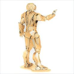 3D Lazer Kesim Metal Model Ironman Gold - Thumbnail