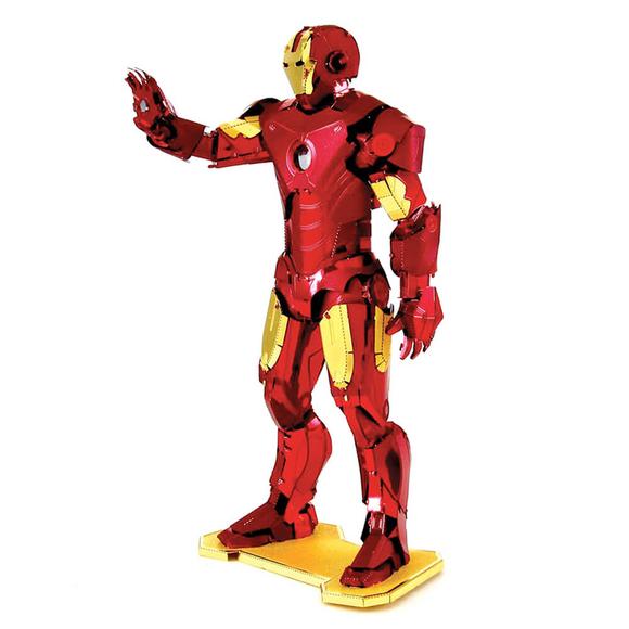 3D Lazer Kesim Metal Model Ironman Kırmızı