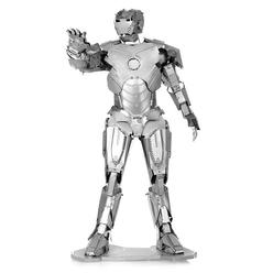 3D Lazer Kesim Metal Model Ironman Silver - Thumbnail