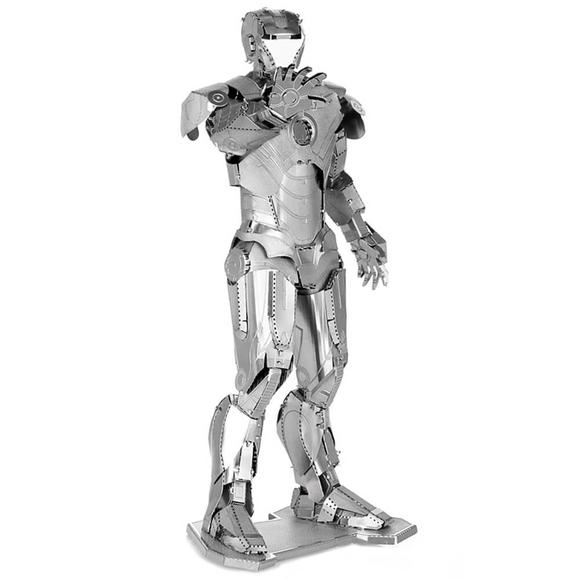 3D Lazer Kesim Metal Model Ironman Silver