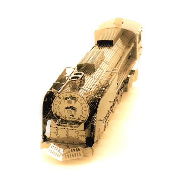 3D Lazer Kesim Metal Model Lokomotif Gold