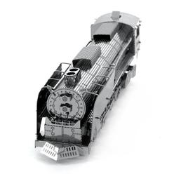 3D Lazer Kesim Metal Model Lokomotif Silver - Thumbnail