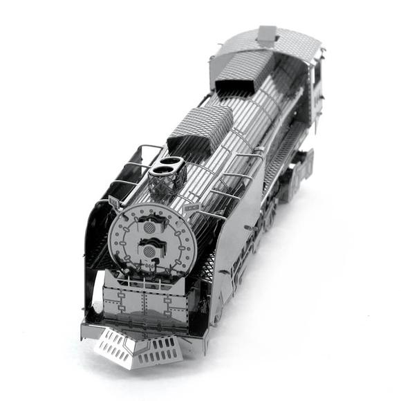 3D Lazer Kesim Metal Model Lokomotif Silver