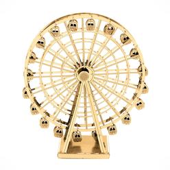 3D Lazer Kesim Metal Model London Eye Gold - Thumbnail
