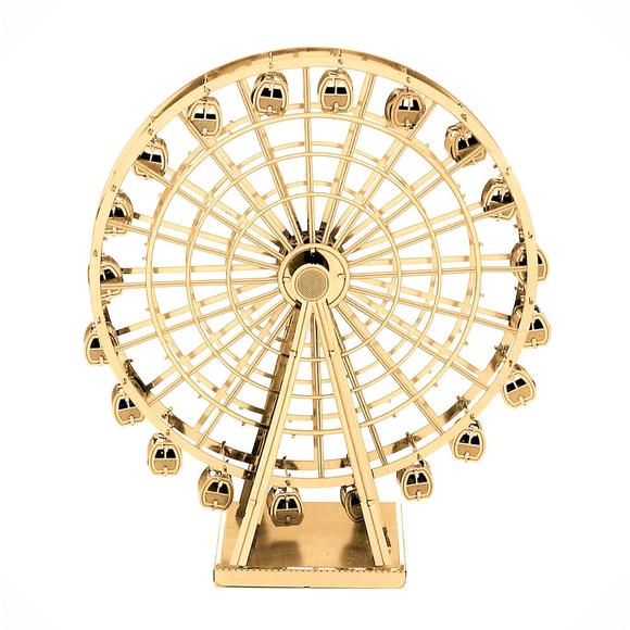 3D Lazer Kesim Metal Model London Eye Gold