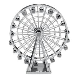 3D Lazer Kesim Metal Model London Eye Silver - Thumbnail