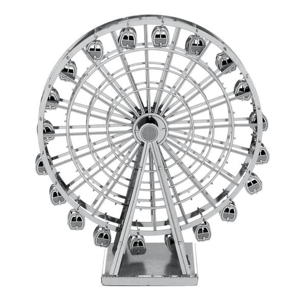 3D Lazer Kesim Metal Model London Eye Silver