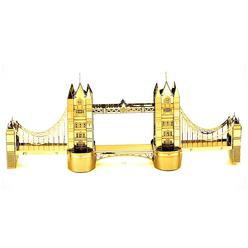 3D Lazer Kesim Metal Model Londra Köprüsü Gold - Thumbnail