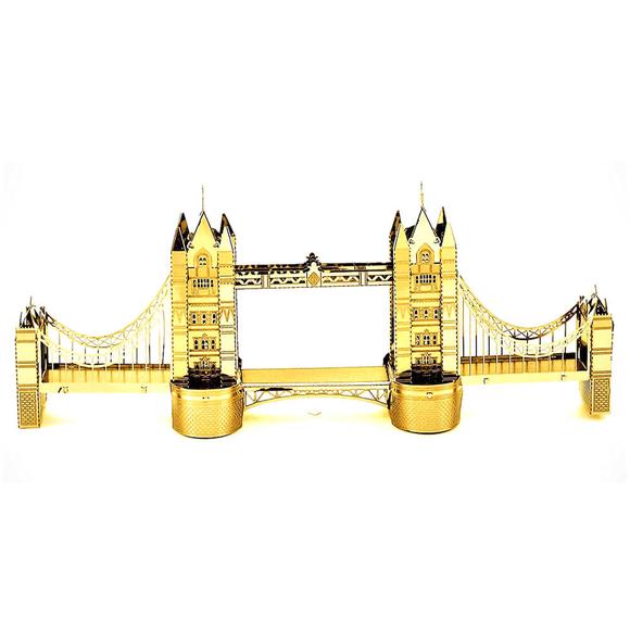 3D Lazer Kesim Metal Model Londra Köprüsü Gold