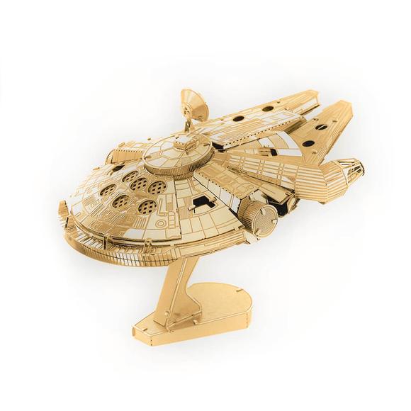 3D Lazer Kesim Metal Model Millenium Falcon Gold