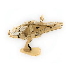 3D Lazer Kesim Metal Model Millenium Falcon Gold - Thumbnail