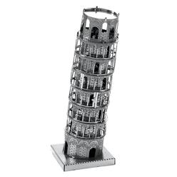 3D Lazer Kesim Metal Model Pisa Kulesi Silver - Thumbnail