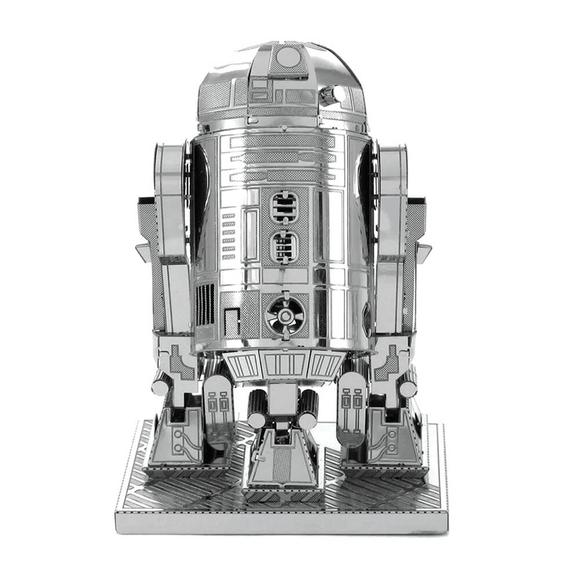 3D Lazer Kesim Metal Model Star Wars Imprerial Star R2-D2 Silver