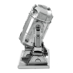 3D Lazer Kesim Metal Model Star Wars Imprerial Star R2-D2 Silver - Thumbnail
