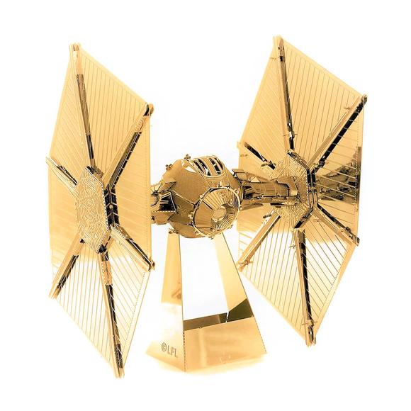 3D Lazer Kesim Metal Model Star Wars Tie Fighter Gold