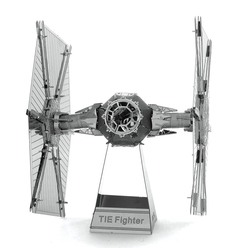 3D Lazer Kesim Metal Model Star Wars Tie Fighter Silver - Thumbnail