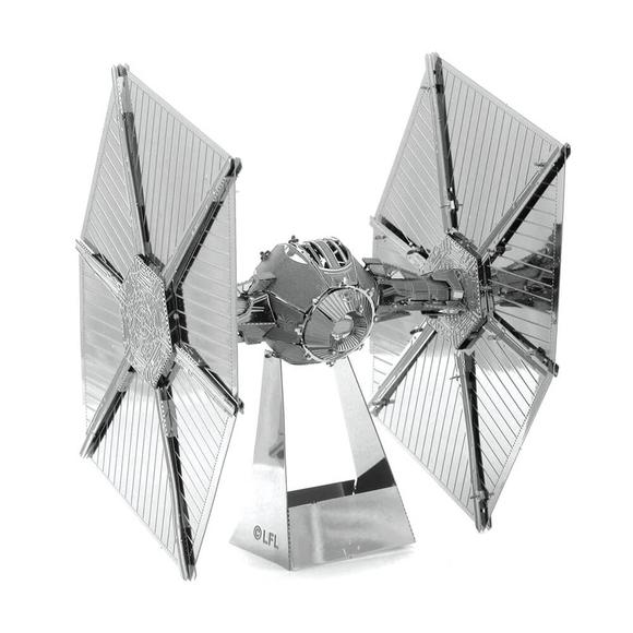 3D Lazer Kesim Metal Model Star Wars Tie Fighter Silver