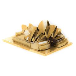 3D Lazer Kesim Metal Model Sydney Opera House Gold - Thumbnail