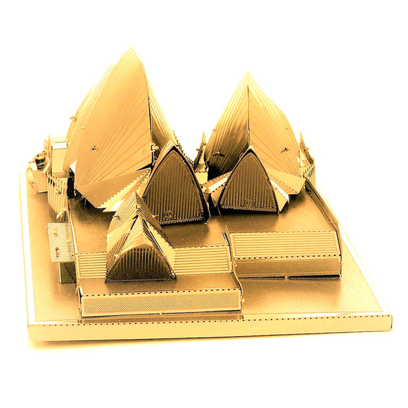 3D Lazer Kesim Metal Model Sydney Opera House Gold
