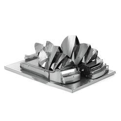 3D Lazer Kesim Metal Model Sydney Opera House Silver - Thumbnail