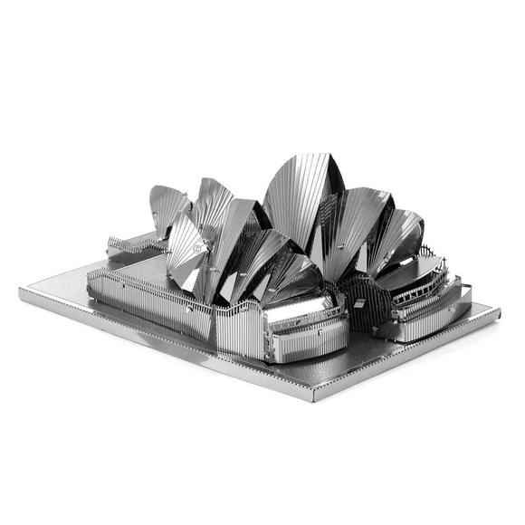 3D Lazer Kesim Metal Model Sydney Opera House Silver