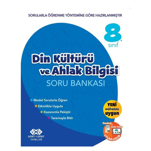 4x4 8. Sınıf Din Kültürü ve Ahlak Bilgisi Soru Bankası
