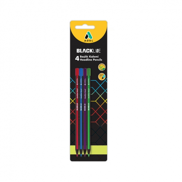 Adel 4 Renk Başlık Kalemi 4 lü Blister