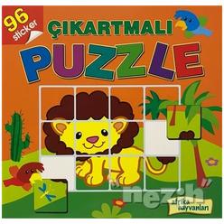 Afrika Hayvanları - Çıkartmalı Puzzle - Thumbnail