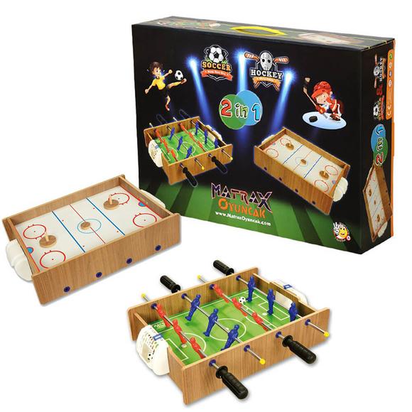 Ahşap Hokey ve Masa Maçı Oyun Seti