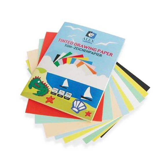 Alex Dosyalı Fon Kartonu 120 gr 10 Renk 25x35 cm
