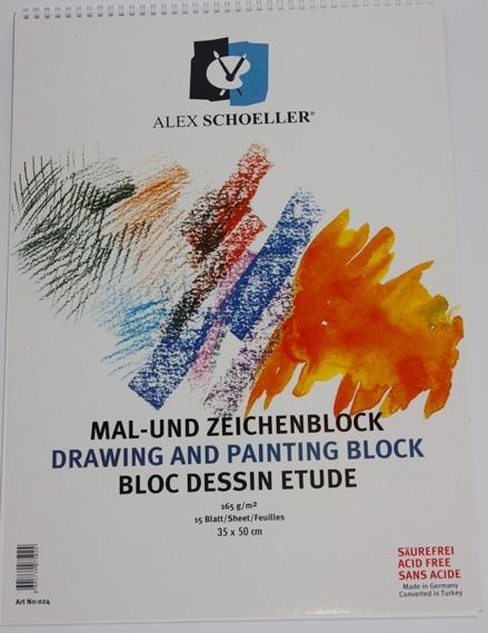 Alex Schoeller Teknik Çizim ve Resim Defteri 165 gr 25x35 cm