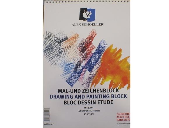 Alex Schoeller Teknik Çizim ve Resim Defteri 165 gr 35x50 cm