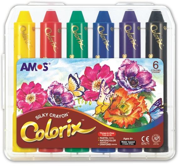 Amos Colorix 3in1 Aquarelle Pastel Boya 6 Renk CRX5PC6