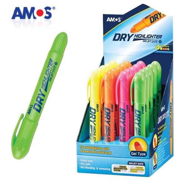 Amos Dry Highlighter Pastel Jel Fosforlu Kalem