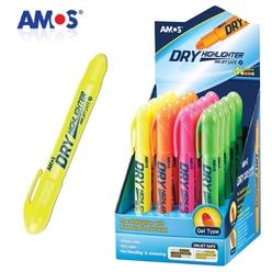 Amos Dry Highlighter Pastel Jel Fosforlu Kalem - Thumbnail