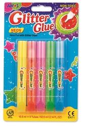 Amos Glitter Glue Neon Simli Yapıştırıcı 10,5 ml 5'li GNE10B5 - Thumbnail