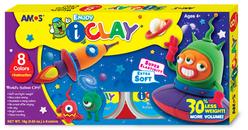 Amos I-Clay Zıplayan Oyun Hamuru 18 gr 8 Renk IC8P - Thumbnail