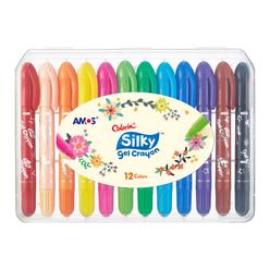 Amos Silky Gel Crayon Jel Tipi Mum Boya 12'li CSG12 - Thumbnail