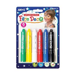 Amos Yüz Boyası 6 Renk FD5B6 - Thumbnail