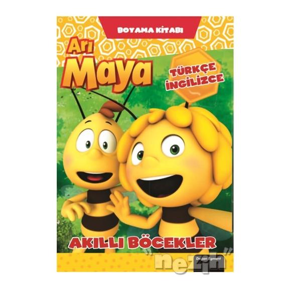 Arı Maya Akıllı Böcekler Boyama Kitabı