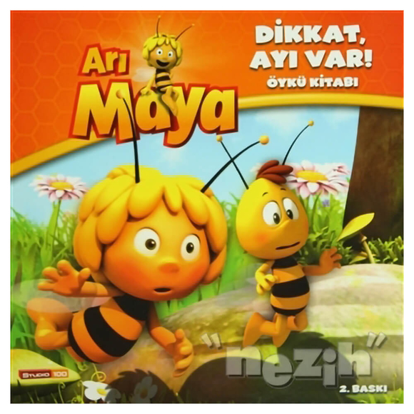 Arı Maya - Dikkat, Ayı Var! Öykü Kitabı